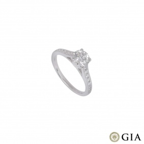 White Gold Round Brilliant Cut Diamond Ring 1.01ct G/VS1 XXX
